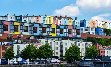Bristol coloured houses Clifton wood harbour