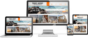Responsive website design mock-up