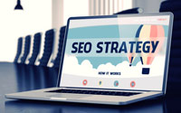 SEO Strategy - Image of laptop in office