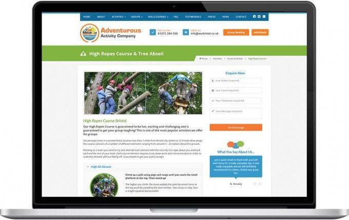Web Design Portfolio - Case Study - Adventurous Activity Company
