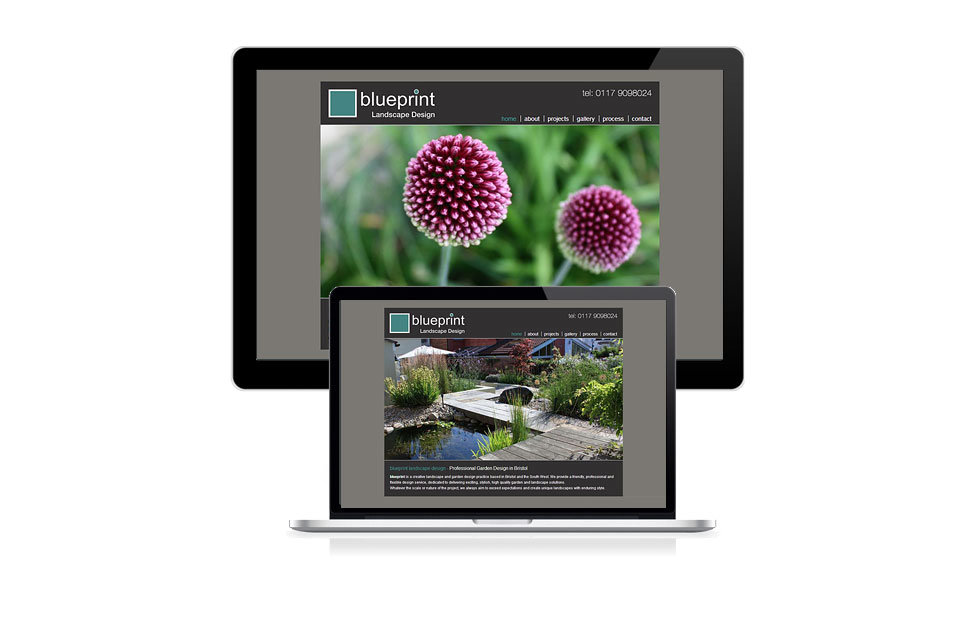 Blueprint landscape design clifton web design for Web design blueprints