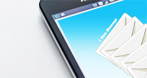 Newsletter email on smartphone