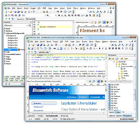 HTMLPad 2011 - screenshot