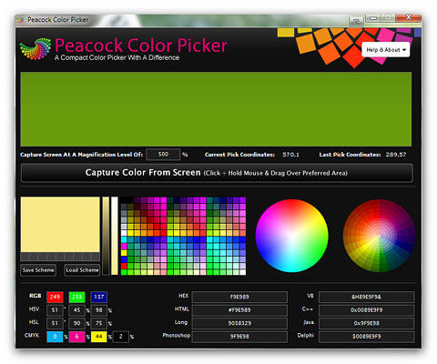 Peacock Colour Picker - Screenshot