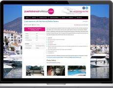 Web Design Portfolio - Case Study - Puerto Banus Holidays