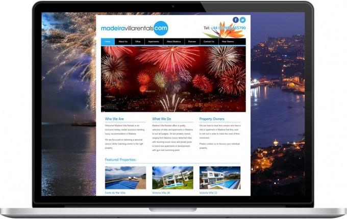 Web Design Portfolio - Case Study - Madeira Villa Rentals