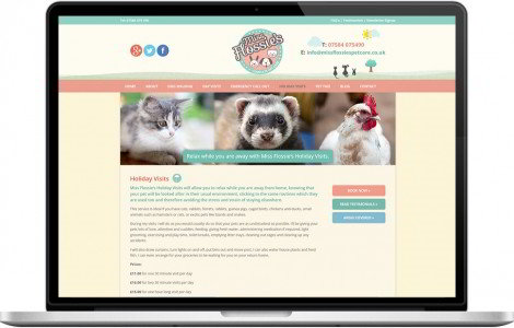 Web Design Portfolio - Case Study - Miss Flossie's Complete Pet Care