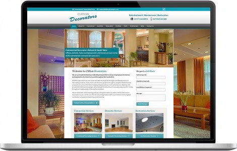 Web Design Portfolio - Case Study - Clifton Decorators