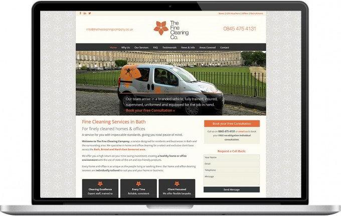 Web Design Portfolio - Case Study - The Fine Cleaning Company