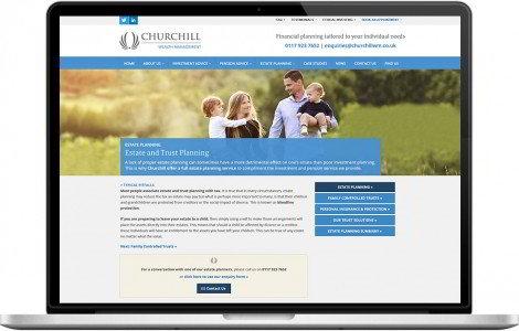 Web Design Portfolio - Case Study - Churchill Wealth Management