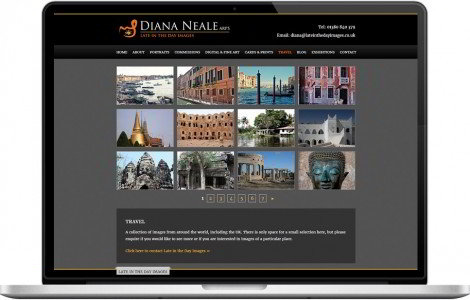 Web Design Portfolio - Case Study - Late in the Day Images