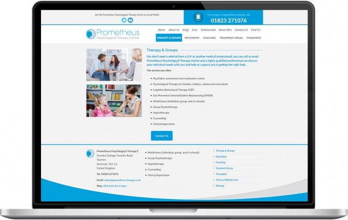 Web Design Portfolio - Case Study - Prometheus Psychological Therapy Centre
