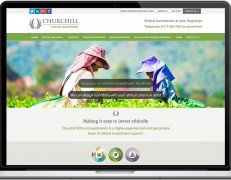 Web Design Portfolio - Case Study - Churchill Ethical Investments