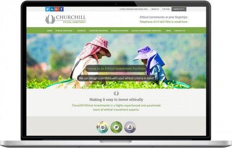 Web Design Portfolio - Case Study - Churchill Ethical Investments