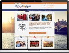 Web Design Portfolio - Case Study - Explore Horizons