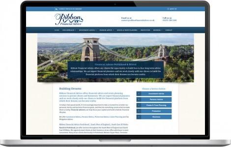 Web Design Portfolio - Case Study - Ribbon Financial Advice