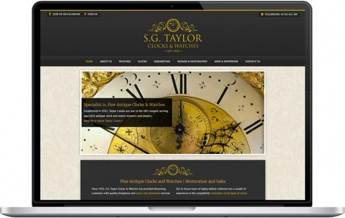 Web Design Portfolio - Case Study - Taylor Clocks & Watches