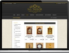 Web Design Portfolio - Case Study - Taylor Clocks & Watches