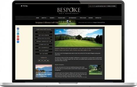 Web Design Portfolio - Case Study - Bespoke Golf Experiences
