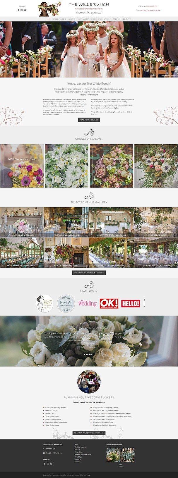 Screenshot of Bristol flower designer website