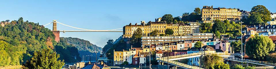 Bristol suspension bridge and clifton village