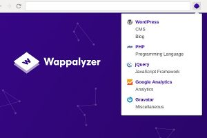 Wappalyzer extension for Chrome