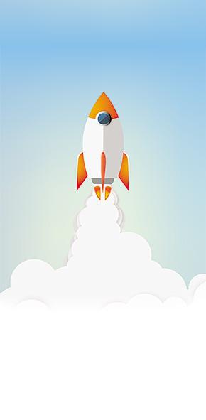 Rocket success illustration business concept