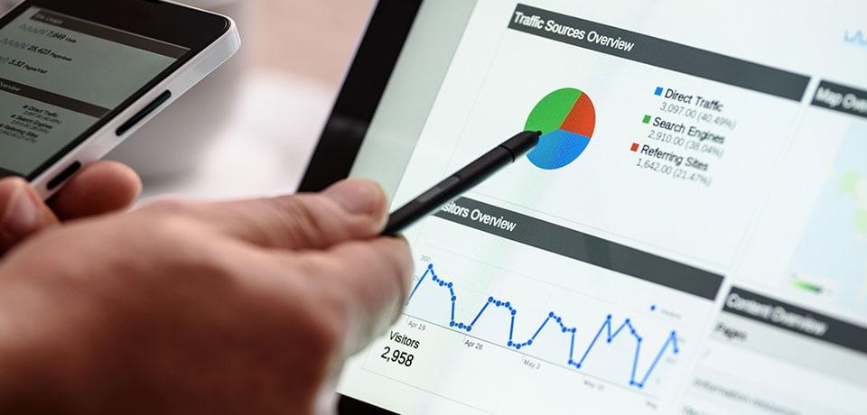 Search Engine Optimisation report dashboard