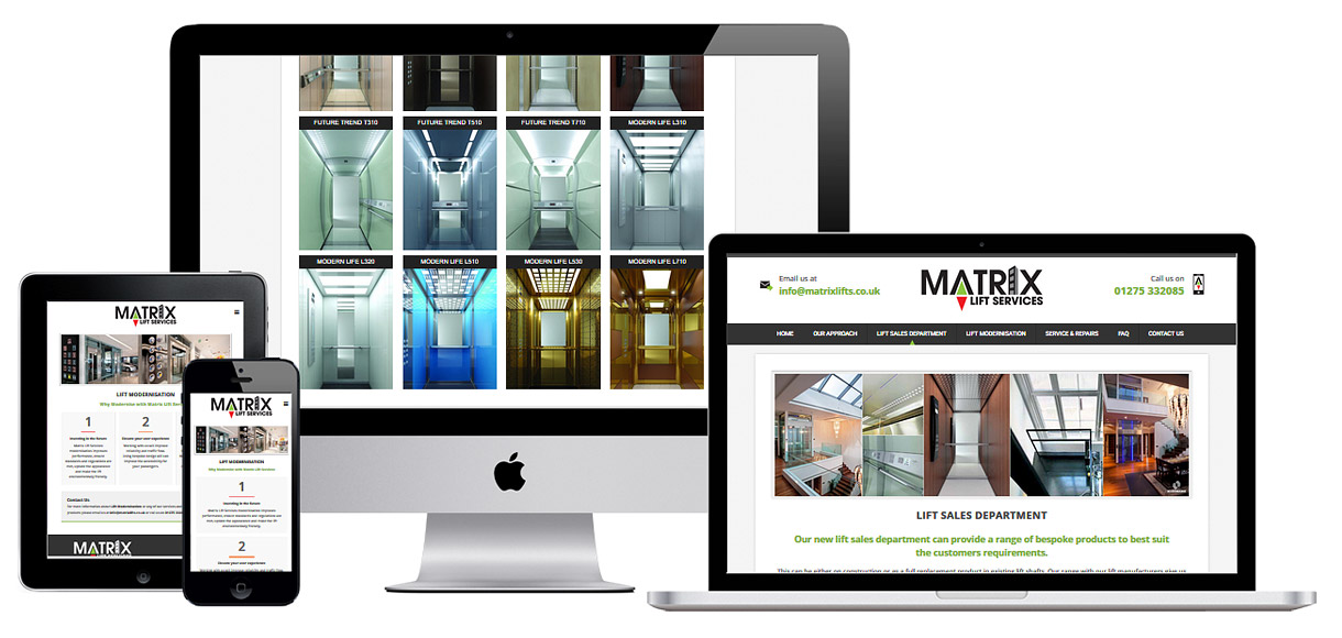 Web Design Portfolio - Case Study - Matrix Lift Services