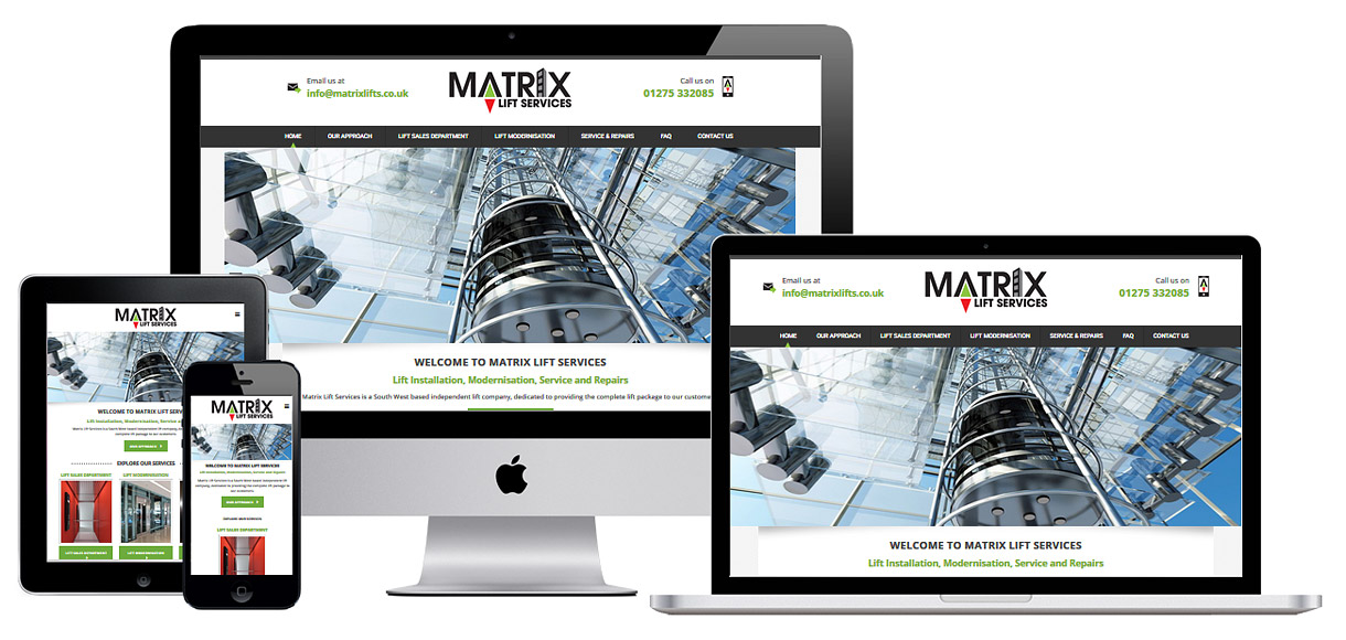Web Design Portfolio - Case Study - Matrix Lift Services