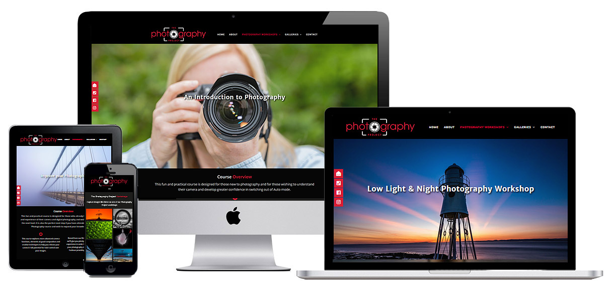 Web Design Portfolio - Case Study - The Photography Project - Photography Website