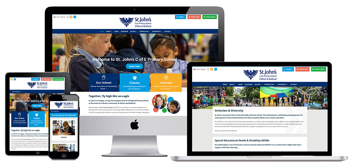 Case Study - School web design - Screenshot