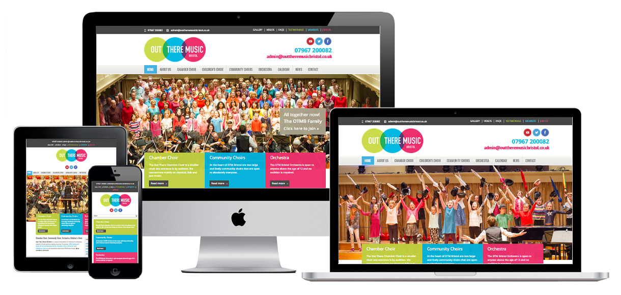 Case Study - Choir Web Design - Out There Music Bristol