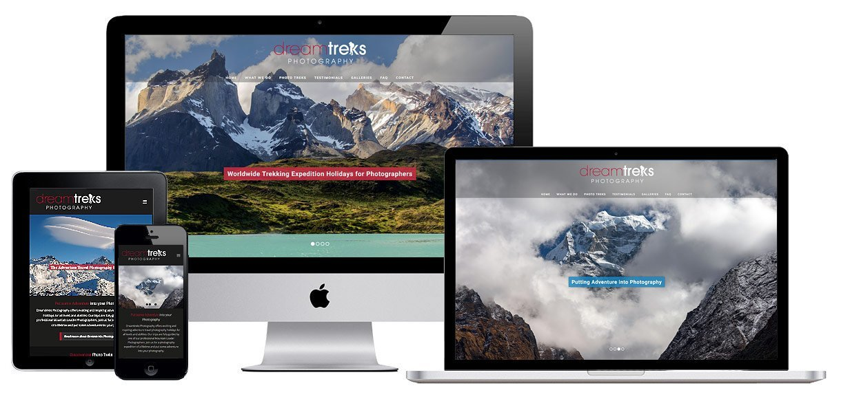 Web Design Portfolio Bristol - Case Study - Adventure Travel Photography Website Design