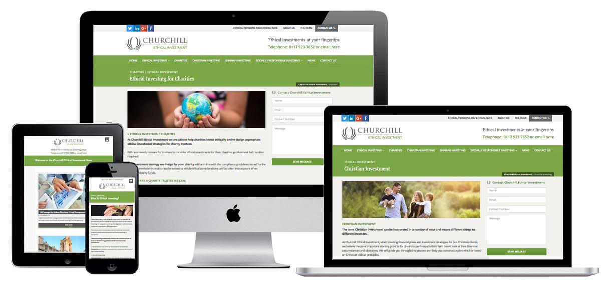Web Design Portfolio - Case Study - Churchill Ethical Investments - Investment Management Website Design