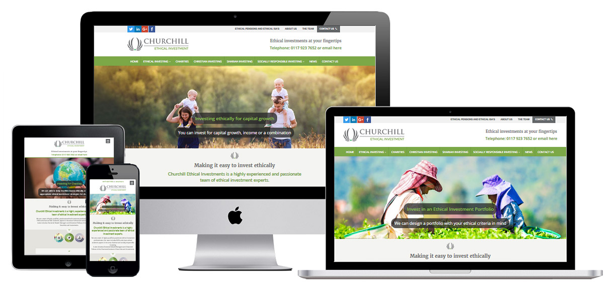Case Study - Churchill Ethical Investments - Investment Management Website Design