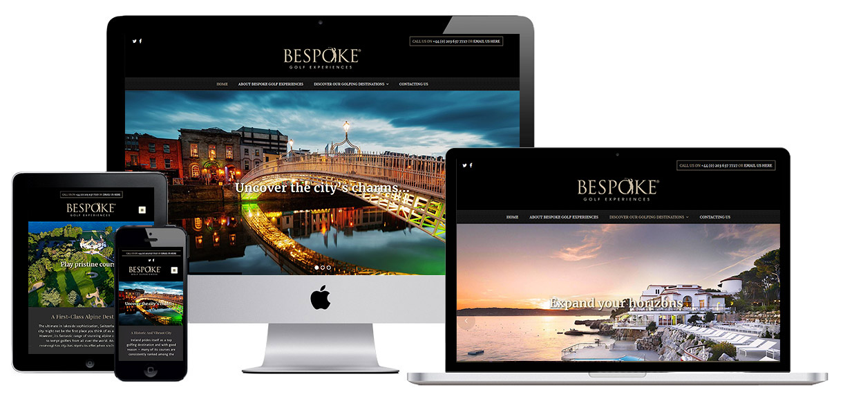 Web Design Portfolio - Case Study - Bespoke Golf Experiences - Golf Travel Website