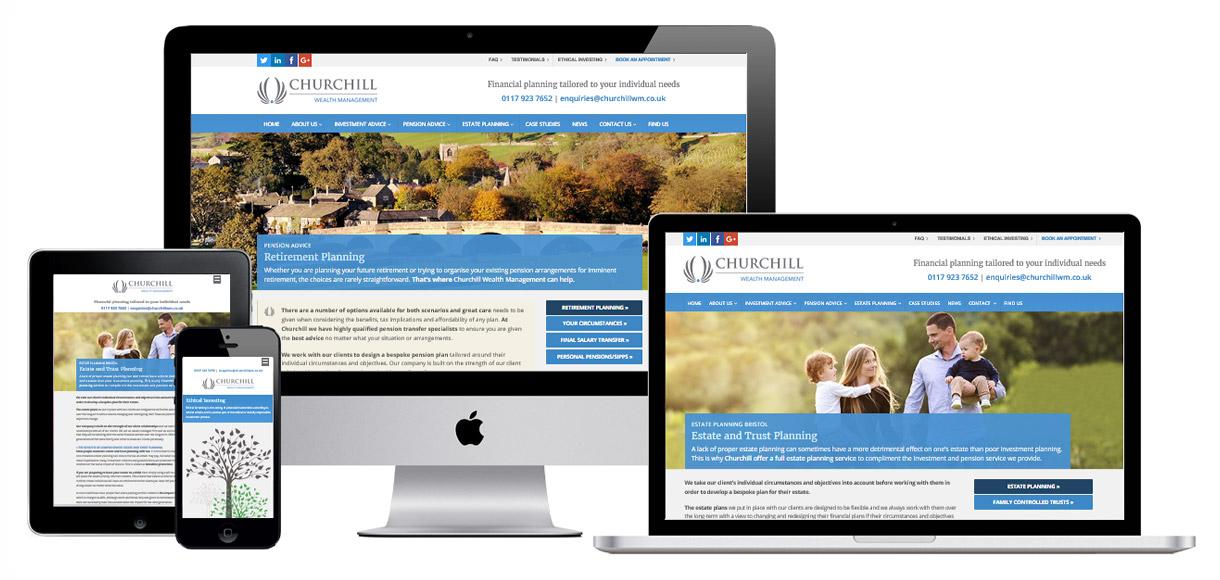 Web Design Portfolio - Case Study - Churchill Wealth Management - Financial Advisor Website Design