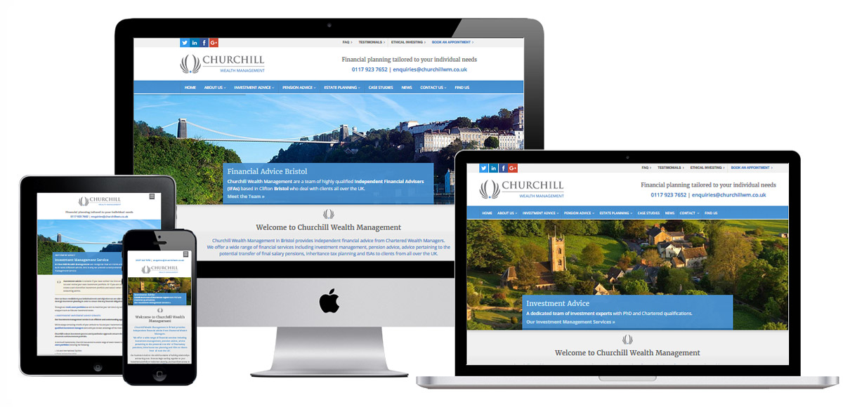 Case Study - Churchill Wealth Management - Financial Advisor Website Design - Screenshot