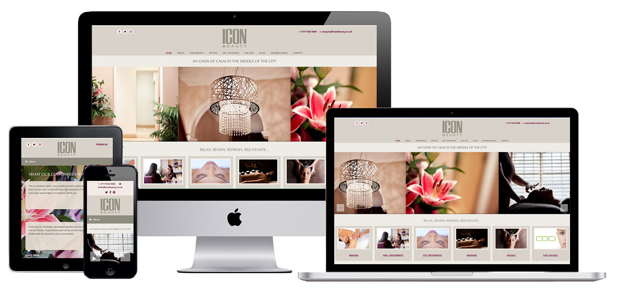Case Study - Bristol Beauty Salon Web Design - Screenshot