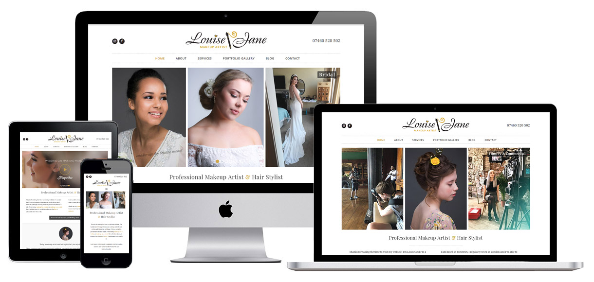 Web Design Portfolio - Case Study - Louise Jane Makeup Artist