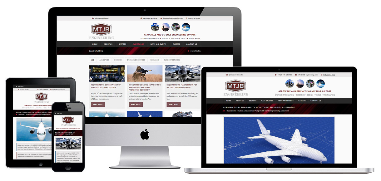 Web Design Portfolio - Case Study - MTJB Engineering
