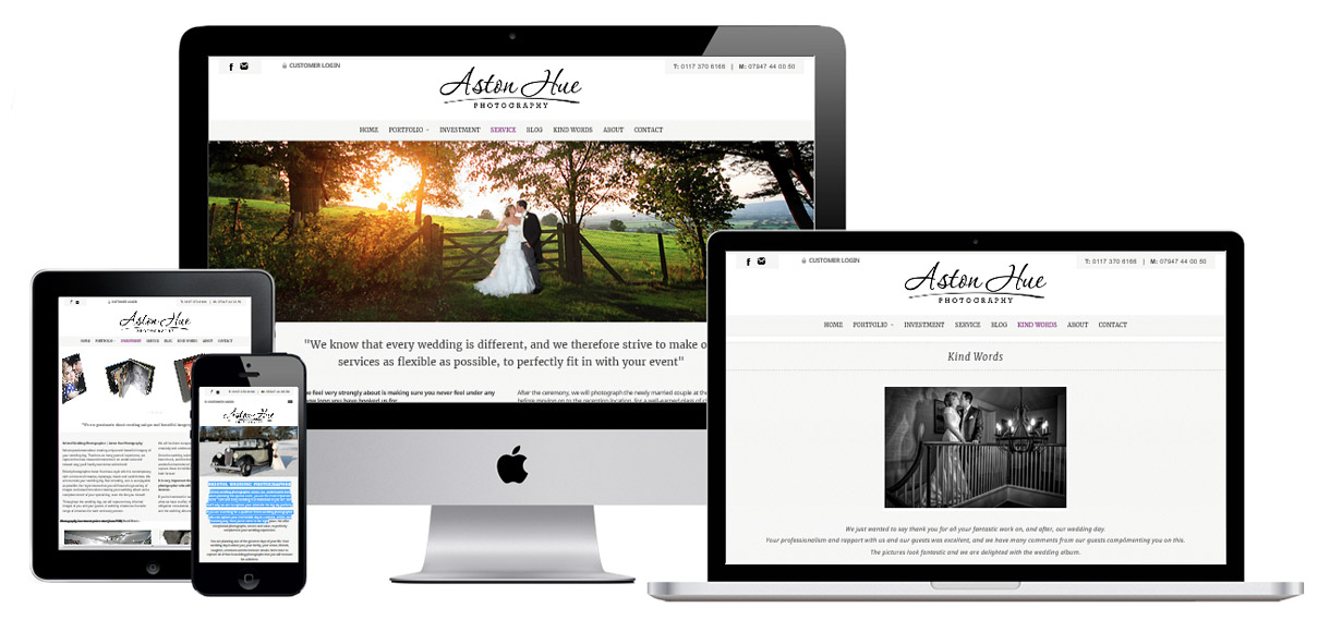Web Design Portfolio - Case Study - Aston Hue Photography - Photography Website Design