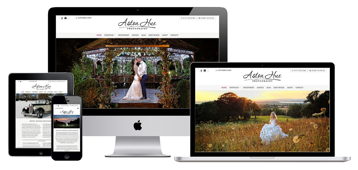 Case Study - Aston Hue Photography - Photography Website Design