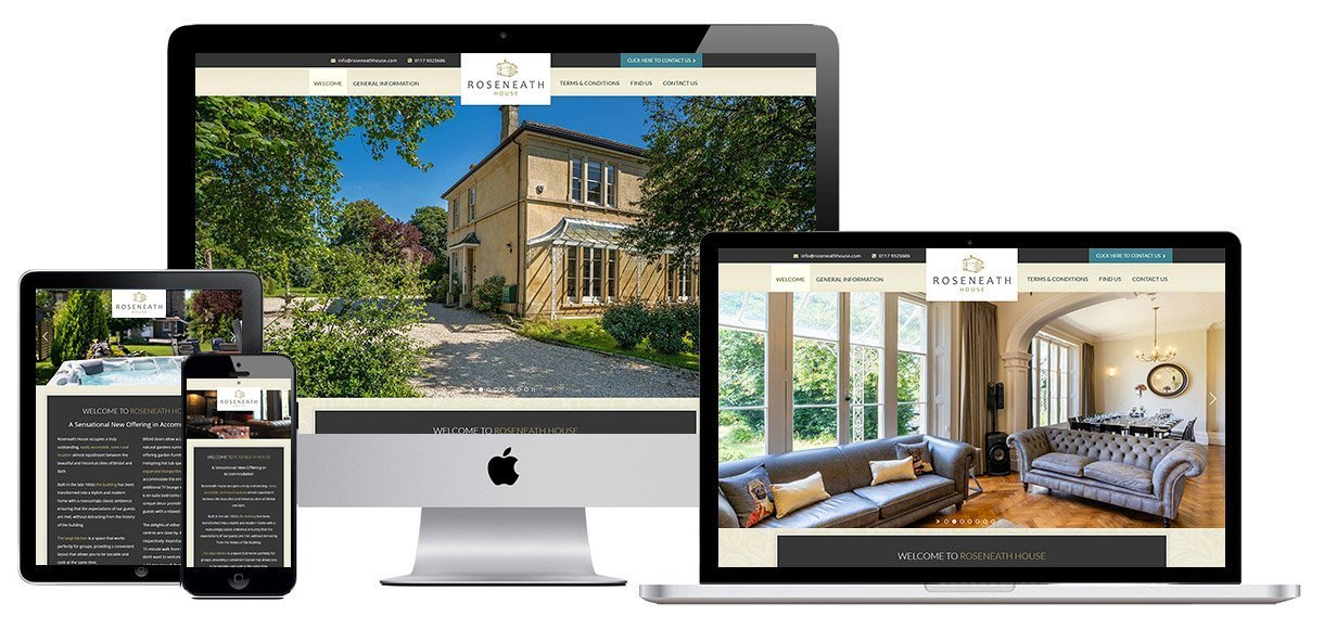Web Design Portfolio - Case Study - Roseneath House - Bed and Breakfast Web Design