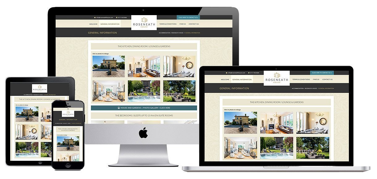 Web Design Portfolio - Case Study - Roseneath House - Guesthouse and Bed and Breakfast Web Design