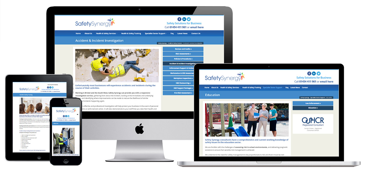 Web Design Portfolio - Case Study - Safety Synergy - Safety Training Website Design