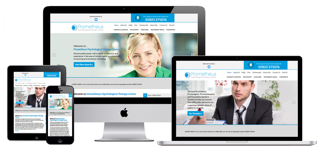 Web Design Portfolio - Case Study - Prometheus Therapy - Counselling Website Design