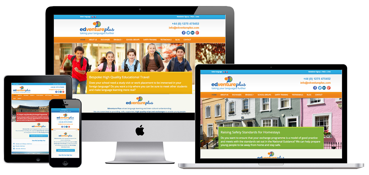 Web Design Portfolio - Case Study - Edventure Plus - Education Web Design