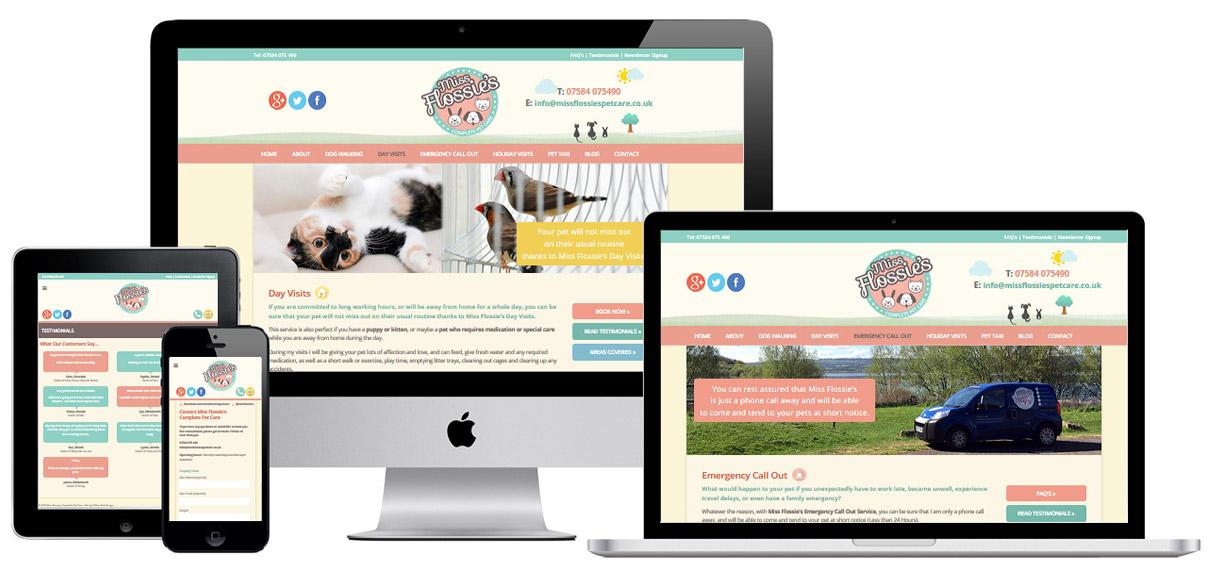 Web Design Portfolio - Case Study - Miss Flossie's - Website Design For Pet Businesses